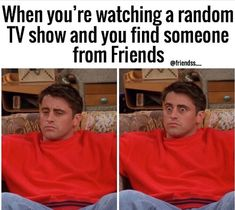 Its funny because this is the seen where it clicks to Joey that Monica and Chandler are dating. Friends Funny Moments, Friends Tv Quotes, Funny Friend Memes, Friends Poster, Friends Cast, Friends Episodes, Friends Series, I Love My Friends, Friends Show