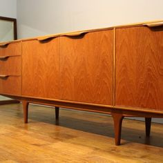 1960s McIntosh teak Dunvegan sideboard cleaned and re-polished - Vintage Retro Home History, Sideboard, Home Furniture, Teak, Retro Vintage, 1960s, Restoration, Cleaning, Cabinet