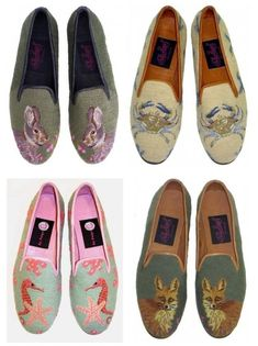 Not that there is much competition - I haven't seen many other tapestry animal loafers. But if I do I can't imagine they will ever be as goo. Dream Shoes, Crazy Shoes, Me Too Shoes, Sock Shoes, Shoe Boots, Shoe Bag, Felt Shoes, Shoe Shoe, Espadrilles