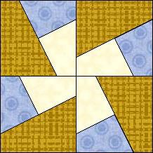 """Quilt-Pro Systems - Quilt-Pro - Block of the Day """"Whacky Windmill"""" (No pattern)"""