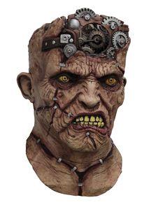 Masque intégral animé Frankenstein mécanique adulte  : Ce masque en latex est…