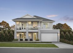 Lyndhurst Marriott Waters Display Homes Style At Home, Facade Design, Exterior Design, Hamptons Style Homes, Suburban House, Patio Interior, House Paint Exterior, Display Homes, Facade House