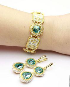 "Bracelets handmade. Fair Masters - handmade. Buy ""Blue"" set. Handmade. Turquoise, Bracelet Handmade"