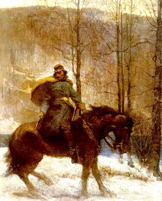 """N.C. Wyeth   Illustration from """"The Long Roll""""   A novel of the South during the American Civil War, by Mary Johnston 1911"""