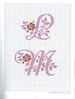 Cross-stitch Alphabets with Flowers, part 4... no color chart use pattern chart as your guide..    Gallery.ru / Photo # 13 - Belles Lettres au point de croix - moimeme1