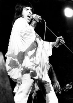 Freddie Mercury in Zandra Rhodes Ensemble, 1973