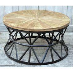 Cast Iron Round Coffee Table