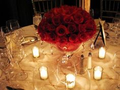 Show me your.... Centrepieces! :  wedding centrepiece Kaplan Short Center