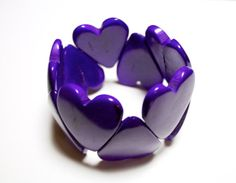 Heart Shaped Tagua Bracelet  Purple EcoFriendly by IngridFonseca, $18.00  Like my page to get the latest updates and find out about future sales and promotions. :) https://www.facebook.com/IngridFonsecaAccessories