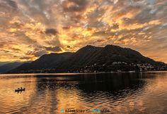 Yellow dawn by Alfredo Costanzo Italy Landscape, Lake Como, Dawn, Celestial, Mountains, Sunset, Yellow, Nature, Alba