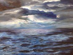 Título: Tormenta en el mar. Junio 2016