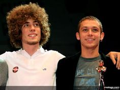 Marco Simoncelli and Valentino Rossi, friends