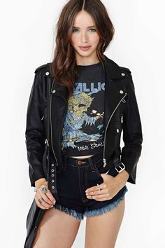 Nasty Gal Moto Zip Crop Jacket $88.00 need moto jacket.. only xs left