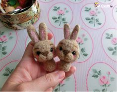 Bunny time!! Needle felted by MJ Crafts