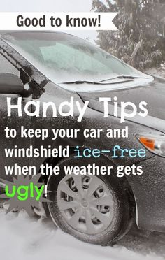 Handy tips to de-ice your car and windshield!