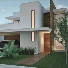 Architecture Exterior 36 Amazing Modern Home Design Exterior Ideas Minimalist House Design, Minimalist Home, Modern House Design, Home Design, Facade Design, Exterior Design, Town Country Haus, House Front Design, Modern House Plans