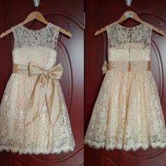 Lace Girl Dress Baptism Dress-Rusti..