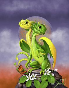 Lemon Digital Art - Lemon Lime Dragon by Stanley Morrison Magical Creatures, Fantasy Creatures, Arte Fashion, Dragon Series, Cute Dragons, Dnd Dragons, Dragon Print, Dragon Pictures, Fantasy Dragon