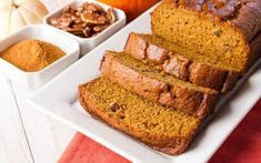 You don't have to give up delicious pumpkin treats while on keto! This low carb keto pumpkin bread is the perfect snack recipe! Keto Foods, Keto Snacks, Snack Recipes, Flour Recipes, Bread Recipes, Cream Cheeses, Low Carb Bread, Low Carb Keto, Key Lime