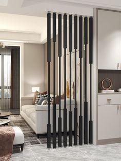 Wood Partition, Living Room Partition Design, Partition Screen, Room Partition Designs, Showroom Interior Design, Restaurant Interior Design, Bathroom Interior Design, Bedroom Pop Design, Home Room Design