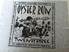 T Shirt Logo  Oyster Run by IdleHandsYarnSupply on Etsy, $1.50