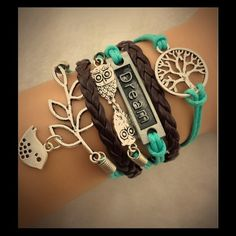 Dream nature bracelet No trades or pp, charms r made of zinc alloy This is all one piece it connects with a clasp and chain, so it is very adjustable. No custom orders sorry. Jewelry Bracelets