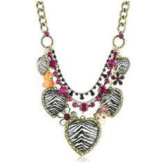betsey johnson safari animal print necklace