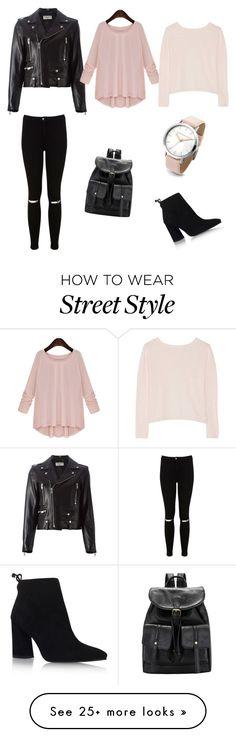 """Winter Street Style"" by hailie-ann-1 on Polyvore featuring Yves Saint Laurent, Miss Selfridge, Banjo & Matilda and Stuart Weitzman"