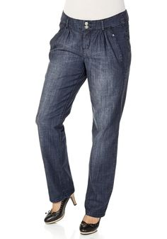 sheego Denim Jeans mit Pailletten