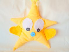 """Items similar to Yellow Star """"You're A Star"""" Stuffed Plushie Hug on Etsy Feeling Under The Weather, Sending Hugs, Say Hi, Friend Birthday, Plushies, Stars, Yellow, Handmade Gifts, Etsy"""