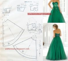 Gown Pattern Dress Patterns Prom Dresses Formal Dresses Pattern Making Sewing Patterns Free Corsage Knitting Blouse Lace Dress Pattern, Wedding Dress Sewing Patterns, Corset Sewing Pattern, Evening Dress Patterns, Skirt Patterns Sewing, Clothing Patterns, Fashion Sewing, Diy Fashion, Make Your Own Clothes