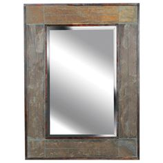 This Quarry mirror is perfect for any wall in your house. This is a classic, symmetrically tiled design of natural slate strips create a majestic frame with a finished, rustic appeal.