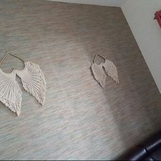 Macrame Angel Wings Kit with pattern/tutorial Macramé Angel, Angel Wings Art, Angel Wings Wall Decor, Dream Catcher Patterns, Wing Wall, Heart Frame, Macrame Patterns, Kit, Diy And Crafts