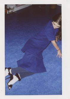 Co-creative Ursina Gysi approached her polariods with a stunning collage technique. Dress.