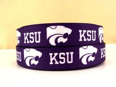 KANSAS STATE WILDCATS Collegiate Grosgrain Ribbon, 7/8""