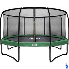 salta black trampoline met veiligheidsnet 305 cm groen