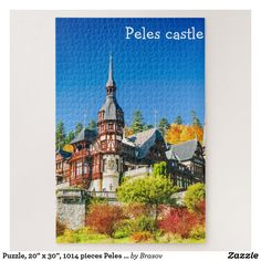 Shop Puzzle, x 1014 pieces Peles castle Jigsaw Puzzle created by Brasov. Custom Gift Boxes, Customized Gifts, Peles Castle, Make Your Own Puzzle, Big Picture, High Quality Images, Your Design, Vibrant Colors, Jigsaw Puzzles