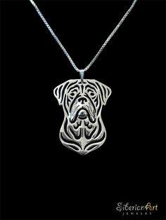 Dogue de Bordeaux jewelry  sterling silver door SiberianArtJewelry