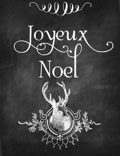 Joyeux Noel Chalkboard Printable | Honeysuckle Life
