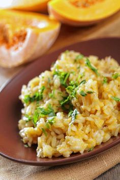 Pumpkin-Sage Risotto with Spicy Italian Sausage and Broccolini. For the recipe: http://www.bergencounty.com/food-and-dining/how-to-buy-meat-and-seafood-1.1081314