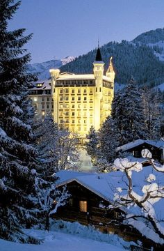 Gstaad Palace, Switzerland! Gstaad Switzerland! Jimmy Carter  used to spend time away at the Gstaad Palace! Contact us today at www.cptravelplanners.com