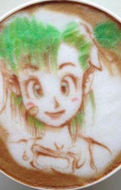 Latte Art-Bulma Dragon Ball