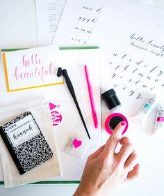 designlovefest - calligraphy workshop photo styling