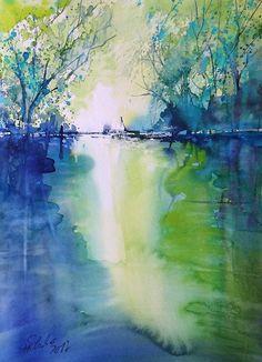 Sieguferstimmung  watercolor  Sabine Hilscher