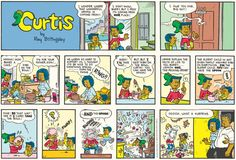 Curtis (1988 – Present) by Ray Billingsley Drawing from his own experience as boy growing up in Harlem, Ray Billingsley brings welcome diversity to the comics pages with Curtis. It may not be the first comic to feature African-American characters, but Curtis is the most popular and most loved.