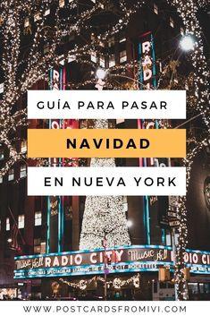 La guía completa para pasar Navidad en Nueva York #Navidad #NewYork #Christmas #añonuevo #viaje Christmas Spectacular, New York Travel, New York City, North America, Places To Visit, United States, Journey, Nyc, Casual Clothes