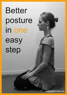 If you find yourself hunching over your computer, steering wheel or latte, here's some super quick yoga to improve your posture. It's really easy too! Click to find out how. Sit up straight, breathe easy, and face the world with confidence. #yoga