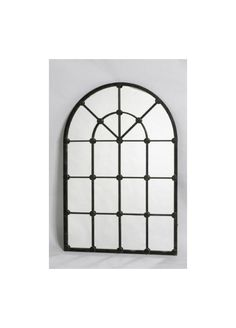 Our Iron Window Mirror is shaped in a curving arch shape with traditional style criss cross panes defined in iron and finished in a black colour If Stand Up Mirror, Arch Mirror, Window Mirror, Wall Mirror, House Without Windows, Iron Windows, Fireplace Mirror, Living Room Accents