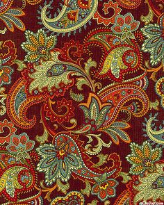 Bountiful - Autumn Paisley - Burgundy