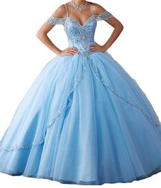 a6e491cd43 Shang Womens Sweet 16 Quinceanera Dress Beaded Prom Ball Gown Formal B